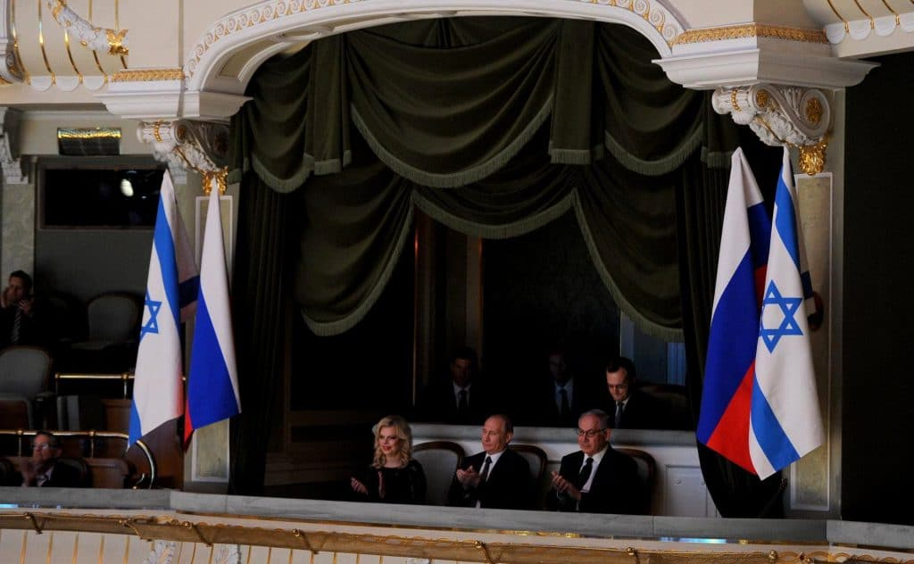 莫斯科大劇院 - 俄羅斯總理普丁與以色列總理內坦雅胡
