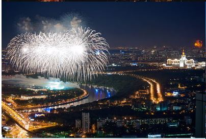 2020 New Year on the roof of Moscow
