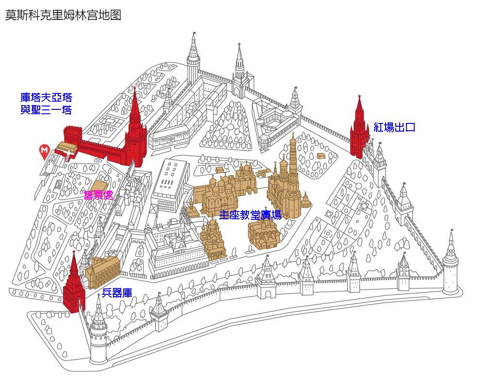 克里姆林宮地圖